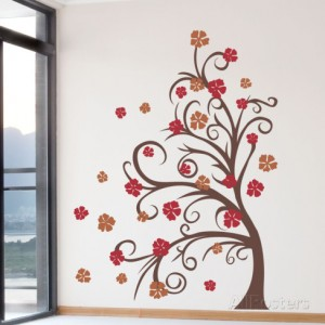 curly-tree-flowers-in-the-wind-brown-wall-decal