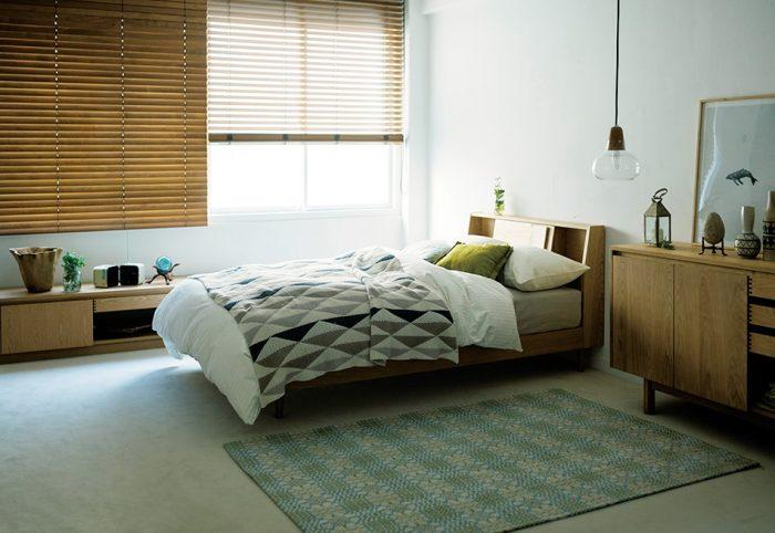 北欧テイストのベッドインテリア