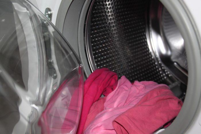 洗濯機の蓋が開いている