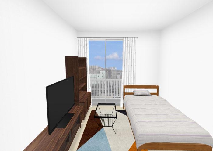 広く見せる家具のレイアウト2