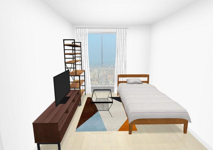広く見せる家具のレイアウト3