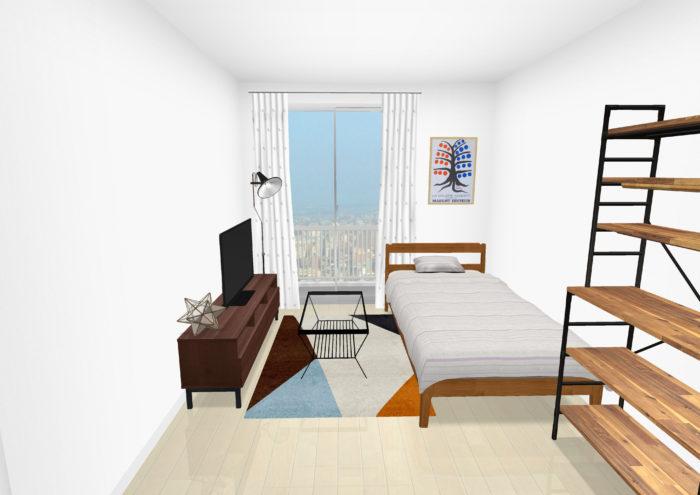 広く見せる家具のレイアウト4
