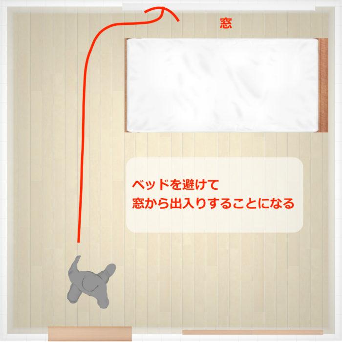 ベッドのレイアウト例1