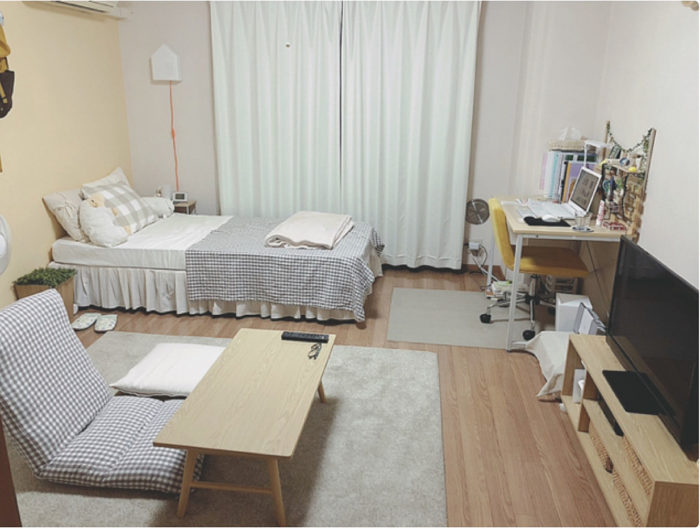 9畳の部屋でも広く見えるレイアウト